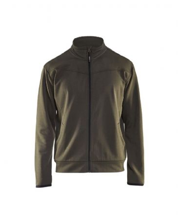 Blaklader 3362 Sweatshirt With Full Zip (Dark Olive Green/Black)
